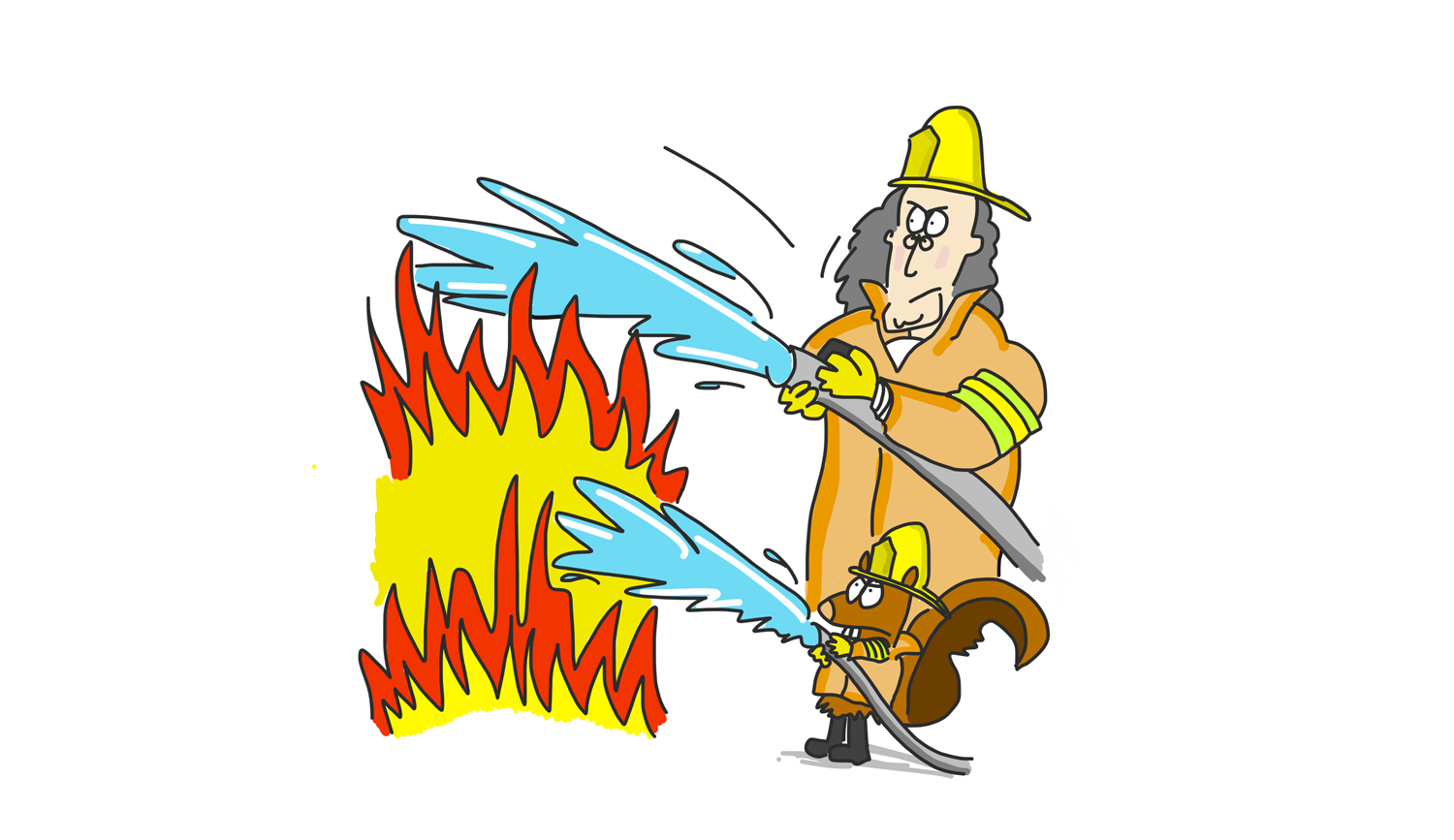 Benjamin Franklin as a firefighter