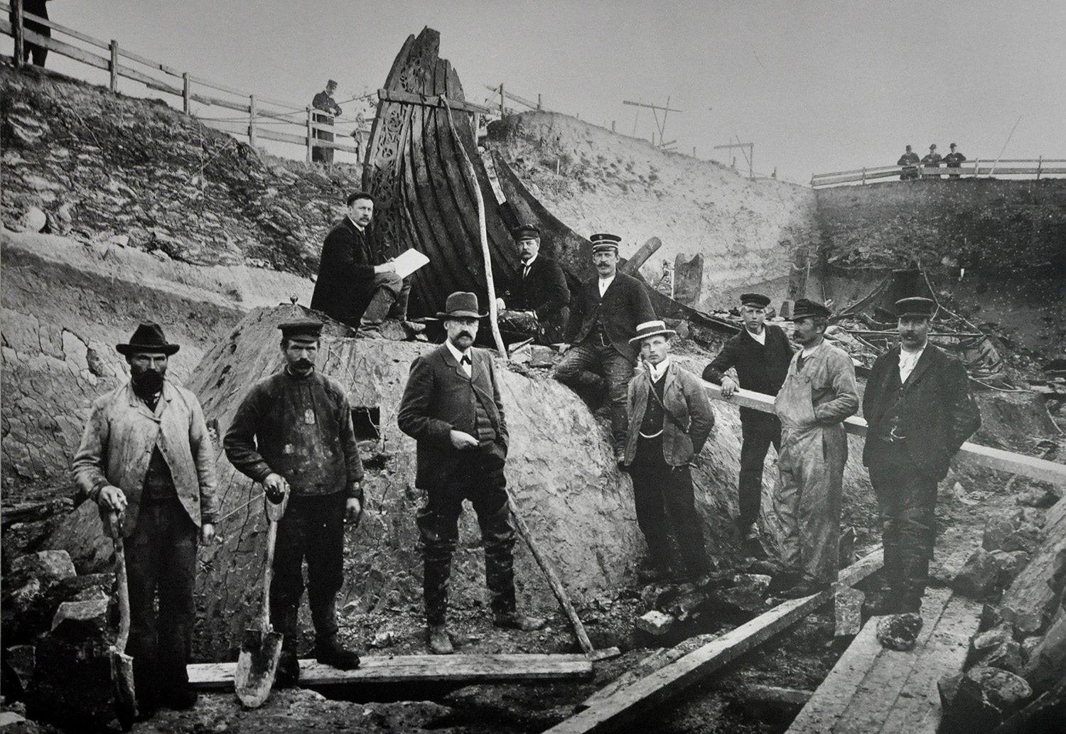 Excavation of the Oseberg ship
