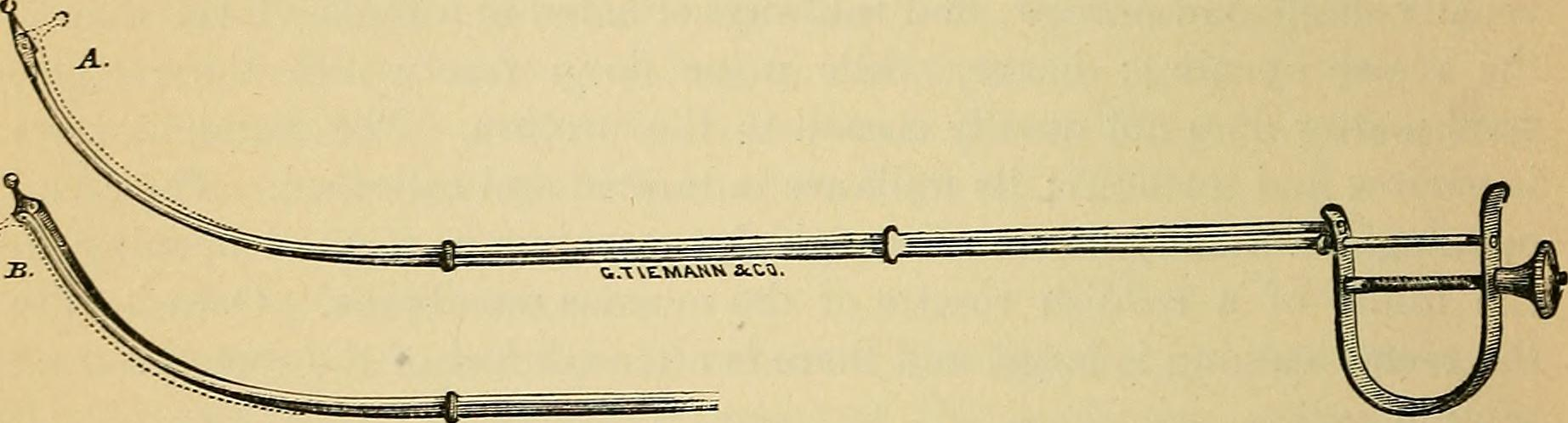 Diagram of Ben Franklin's Urinary Catheter Invention