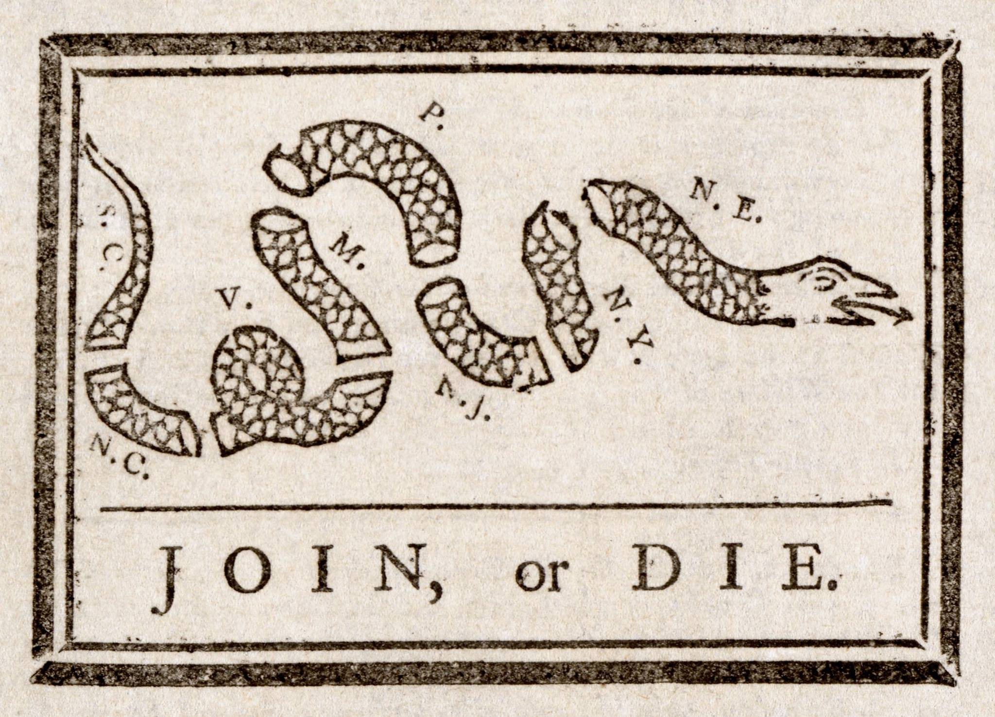 join or die political cartoon