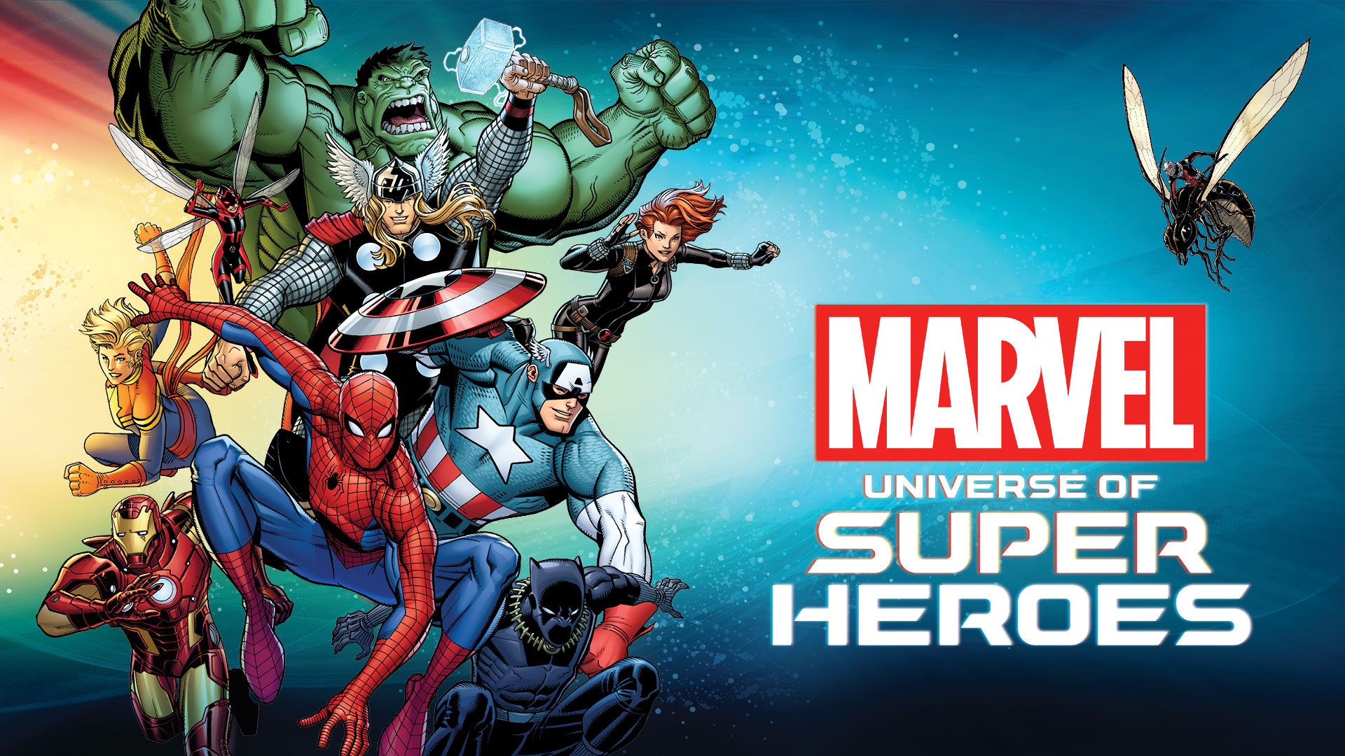 Marvel Universe of Super Heroes Graphic and Logo