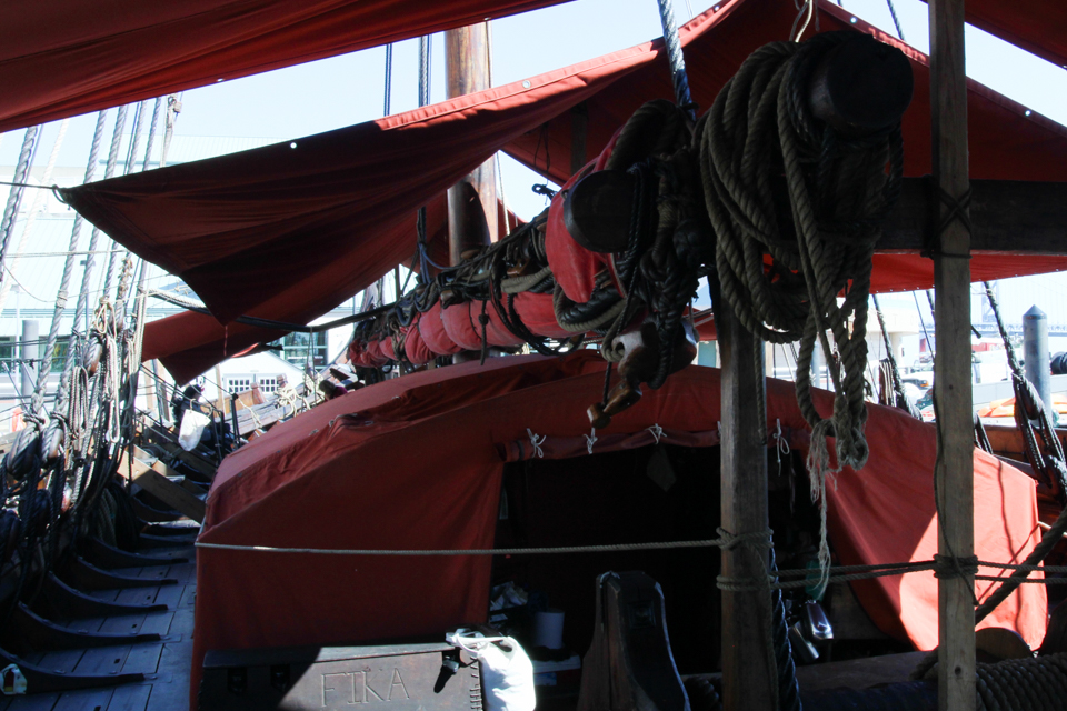 overview shot of inside of Draken viking ship