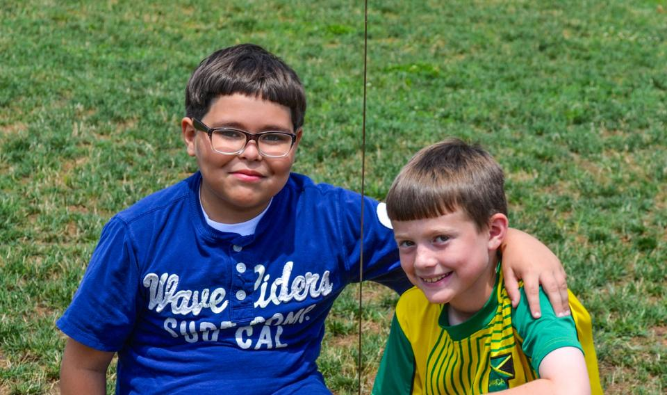 Children hanging out at Discovery camp