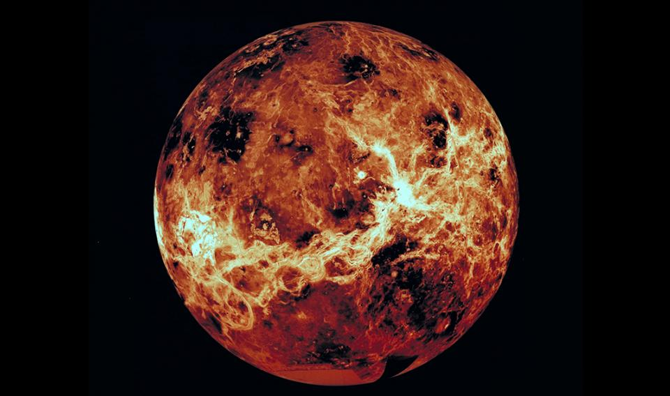 Photograph of the planet Venus