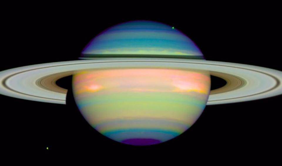 Infrared image of Saturn