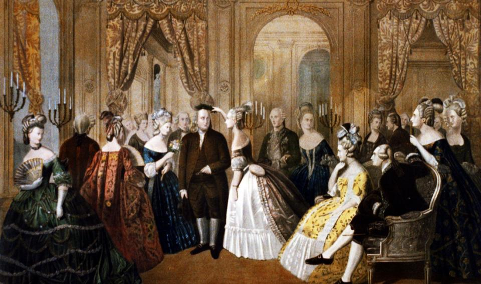 Anton Hohenstein (American, born Germany, 1823-1872) | Franklin's Reception at the Court of France, 1778 | 1860 | Library of Congress