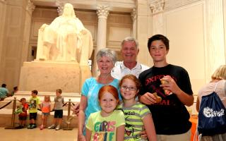 A family at The Franklin Institute