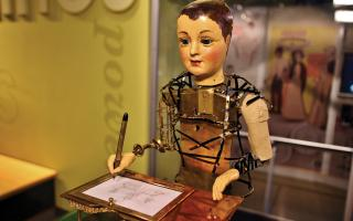 The Automaton in the Amazing Machine Exhibit at The Franklin Institute.