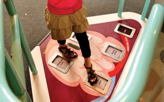 The circulation of blood through the heart at the Giant Heart exhibit at The Franklin Institute.