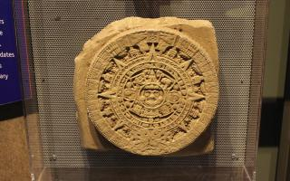 Mayan calendar activity in the Space Command exhibit at The Franklin Institute.