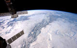 Rocky Mountains From Orbit