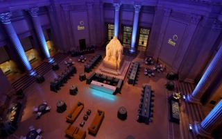 Event Setup Benjamin Franklin Memorial