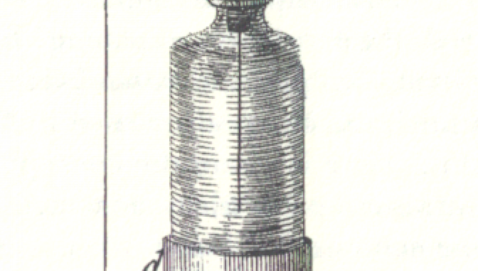 Figure of a Leyden jar from Franklin's New Experiments and Observations on Figure of a Leyden jar from Franklin's New Experiments and Observations on Electricity