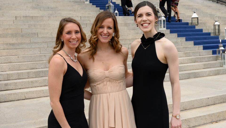 Photo of three women from the 2019 Franklin Institute Awards Ceremony and Dinner