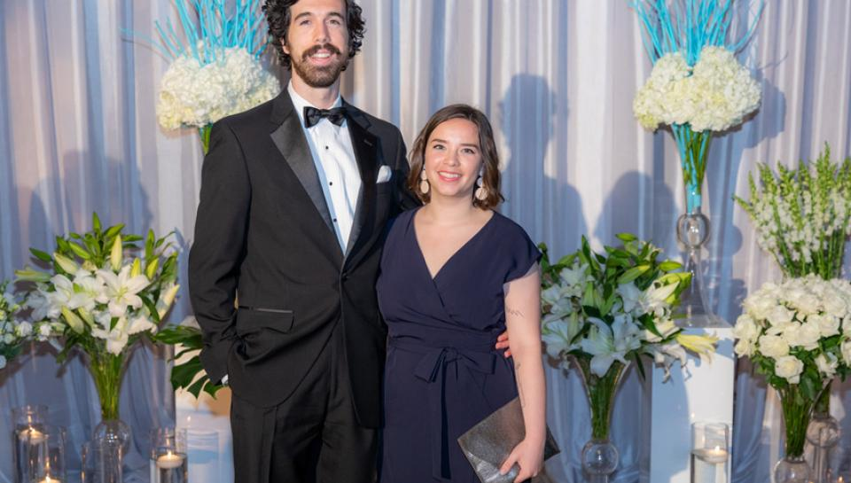 Photo of couple from the 2019 Franklin Institute Awards Ceremony and Dinner
