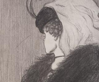 classic optical illusion of old woman or girl